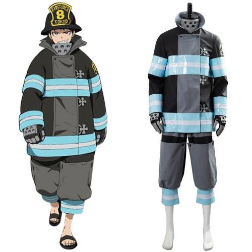 Fire Force Feuerwehrmann Shinra Kusakabe Tamaki Kotatsu Uniform Cosplay Kostüm