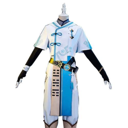 Genshin Impact Chongyun Cosplay Kostüm Uniform Halloween Karneval Kostüm