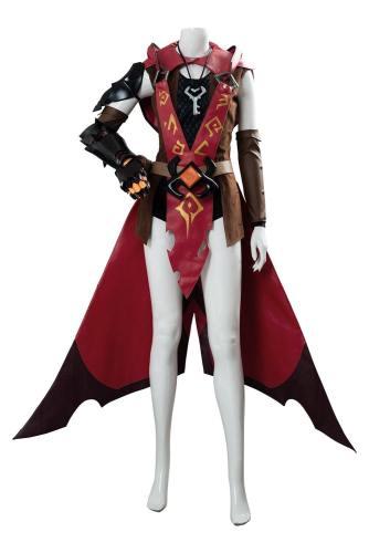 OVERWATCH OW Ashe Warlock Ashe Legendary Skin Halloween Terror Skin Cosplay Kostüm