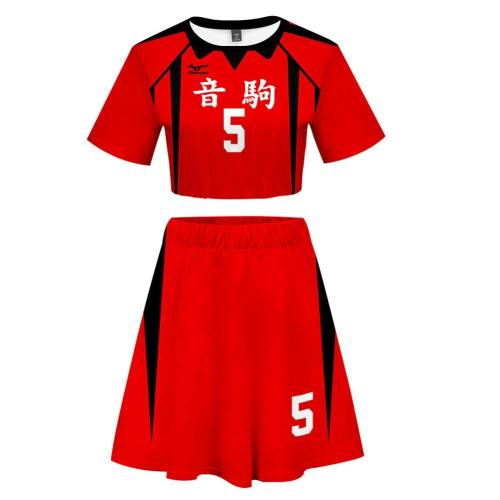 Kenma Kozume Uniform Haikyuu!! Volleyball!! Nekoma High Nummer 5 webliche Kleid Cosplay Kostüm