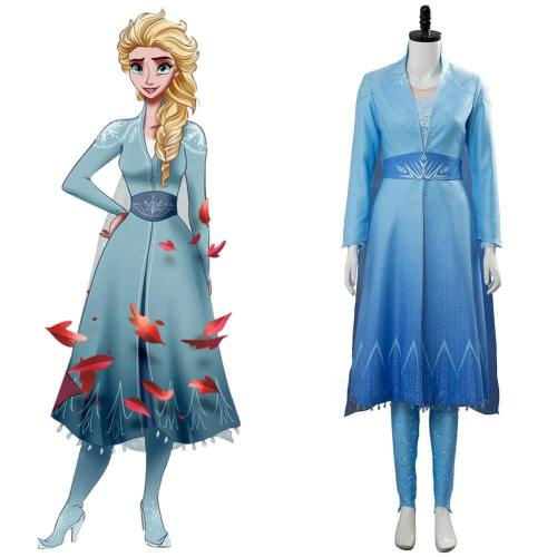 Frozen 2 Die Eiskönigin 2 Völlig unverfroren Elsa Kleid Cosplay Kostüm Version B