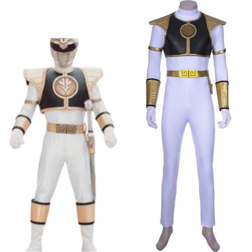 Mighty Morphin Power Rangers Teenager Tommy Oliver Weißer Ranger Tommy COSPLAY Kostüm