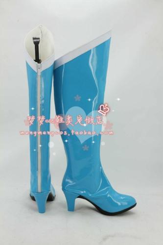 Sailor Moon Kino Makoto Jupiter Schuhe Cosplay Stiefel Schuhe Hellblau