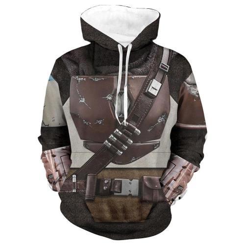 The Mandalorian Star Wars Hoodie Jacke mit Reißverschluss Pullover mit Kaputze Sweatshirt