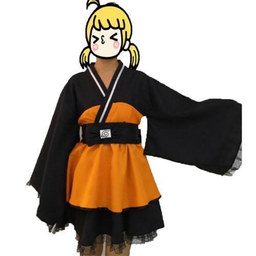 Naruto Uzumaki Naruto Uzumaki Cosplay Kostüm Kleid Frau Version
