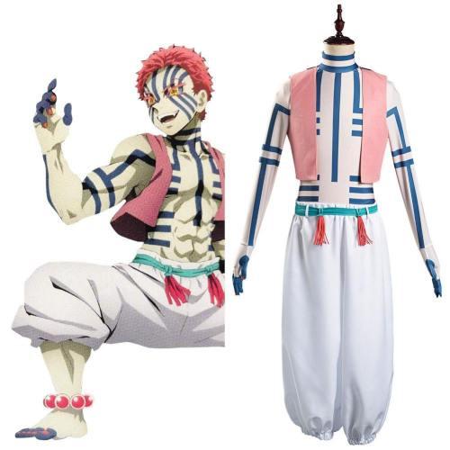 Akaza Kimetsu no Yaiba Hakuji/Akaza Cosplay Kostüme Halloween Karneval Kostüme