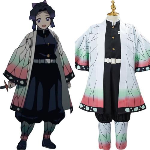 Kinder Shinobu Kocho Kostüm Demon Slayer: Kimetsu no Yaiba Cosplay Kostüm für Kinder
