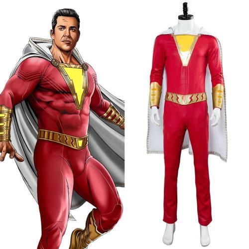 DC-Shazam- Billy Batson Cosplay Kostüm NEU
