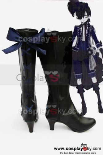 Black Butler Grell Cosplay Stiefel Schuhe Neue