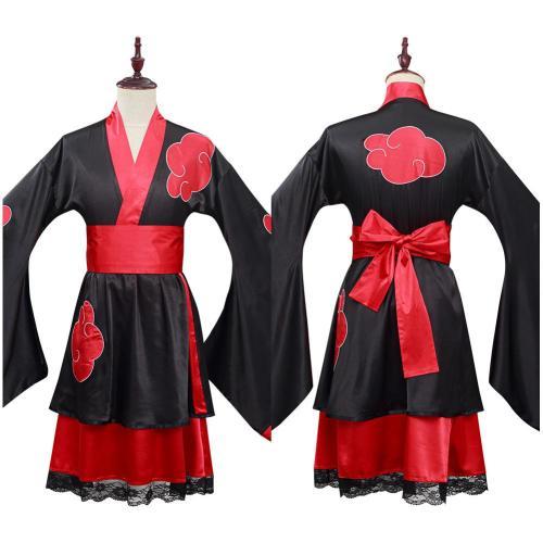NARUTO Akatsuki Cosplay Kostüm Kimono Halloween Karneval Outfits