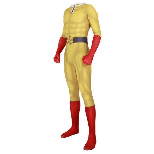 One Punch Man Hero Saitama Print Jumpsuit Cosplay Kostüm