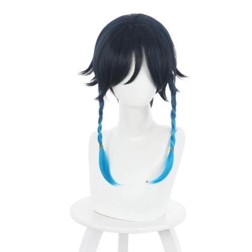 Genshin Impact Venti Perücke Cosplay Perücke blau