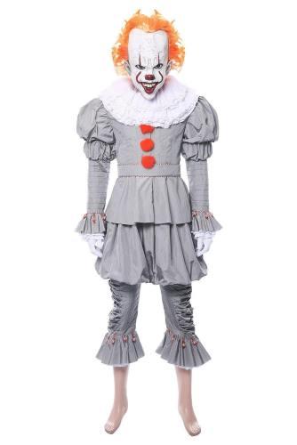 Es: Kapitel 2 Film Horrorclown Pennywise The Clown Outfit Cosplay Kostüm NEU