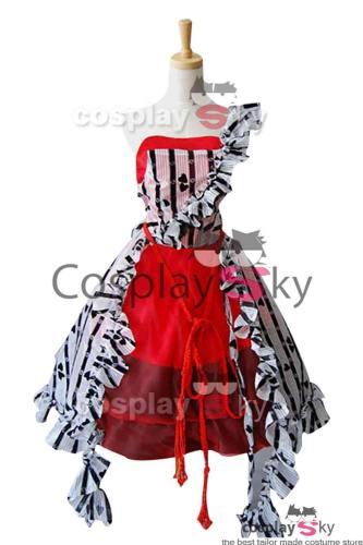 Tim Burton Alice In Wonderland Alice Rot Kleid Cosplay Kostüm