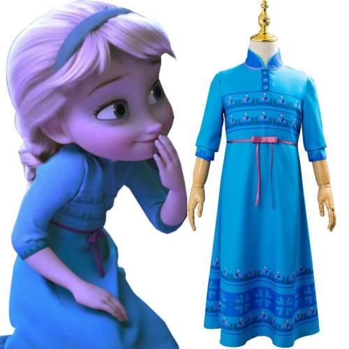 Frozen 2 Die Eisköniging 2 Prinzessin Elsa Kleid Cosplay Kostüm für Kinder