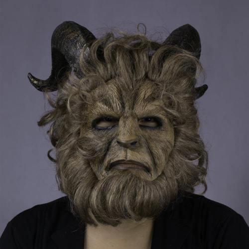 2017 Beauty and the Beast Schönheit und das Biest Dan Stevens Beast Maske Langharre Cosplay