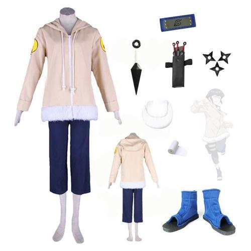 Masashi Kishimoto Naruto Hinata Hyuga Cosplay Kostüm Kinder Erwachsene Set Version B