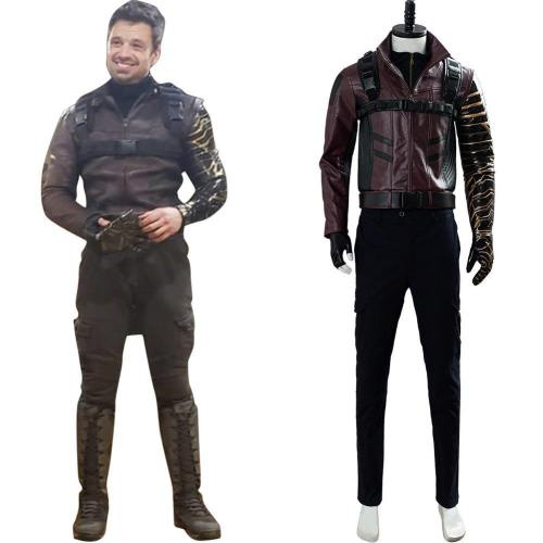 The Falcon and the Winter Soldier Cosplay Bucky Barnes Bucky Kostüm Set