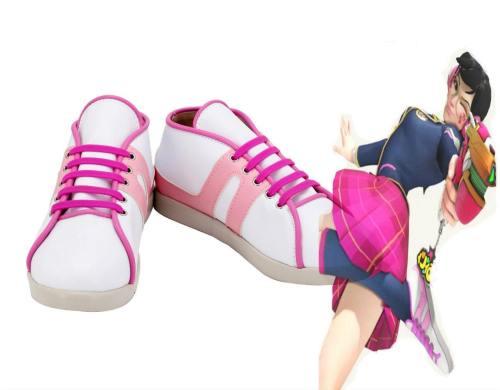 Overwatch D.VA DVA Hana Song Academy D.VA Schoolgirl Skin Cosplay Schuhe