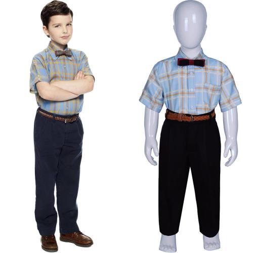 Sheldon Cooper Kostüm für Kinder Jungen Young Sheldon Staffel 3 Cosplay Kostüm