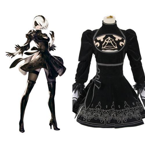 NieR:Automata 2B Uniform Kleid Cosplay Kostüm