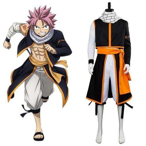 Fairy Tail die letzte Staffel Etherious Natsu Dragneel Cosplay Kostüm