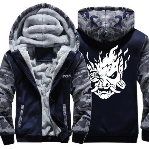 Cyber Punk 2077 Hoodie Pullover mit Kaputze Pulli Jacke mit Reißverschluss Cyberpunk 2077 für Erwachsene Frühling Herbst