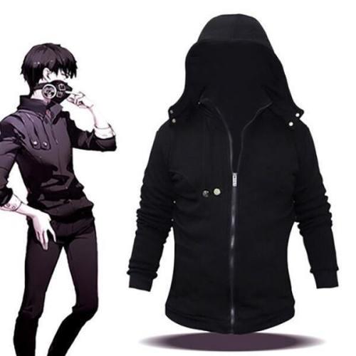 Tokyo Ghoul Kaneki Ken Cosplay Hoodie Pullover mit Reißverschluss Kaputze
