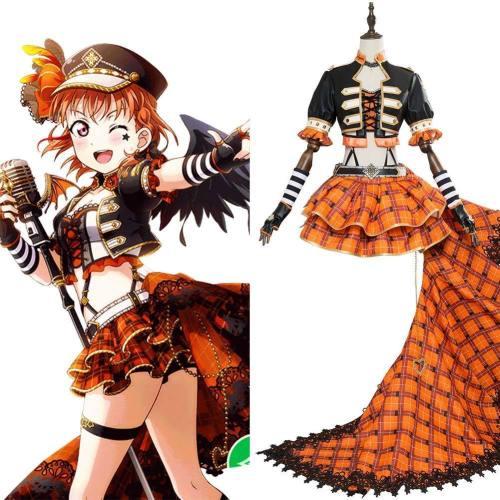 Love Live ! Aqours Chika Takami Punk Rock Ver. SR 1470 Cosplay Kostüm