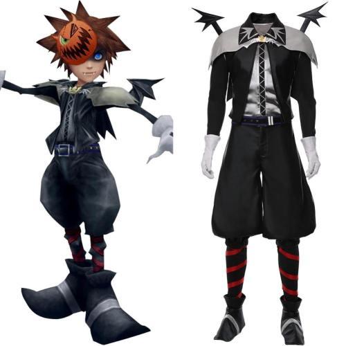 Kingdom Hearts Halloween Town Vampir Sora Cosplay Kostüm