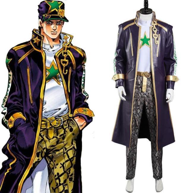JoJo's Bizarre Abenteuer Stone Ocean Kujo Jotaro Kostüm Cosplay Halloween Karneval Outfits