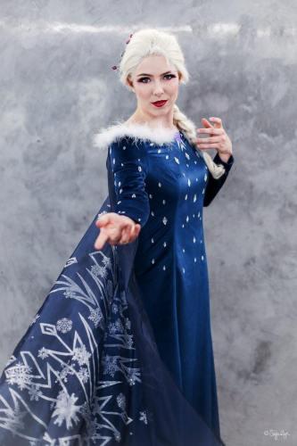 Frozen Olaf's Frozen Adventure Elsa Kleid Cosplay Kostüm