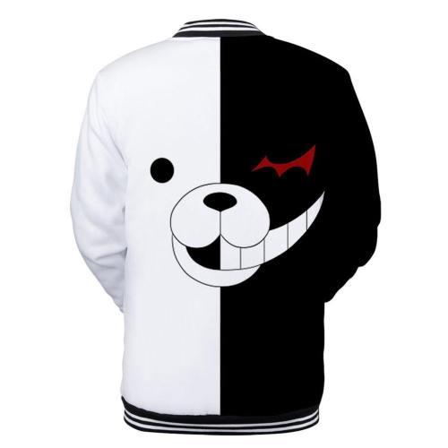Danganronpa Monokuma Pullover Pulli Jacke mit Knöpfe Erwachsene 3D Druck