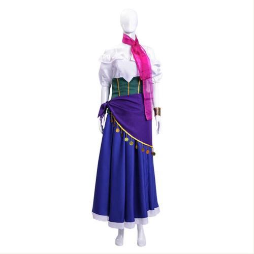 Der Glöckner von Notre Dame The Hunchback of Notre Dame (La) Esmeralda Kleid Cosplay Kostüm
