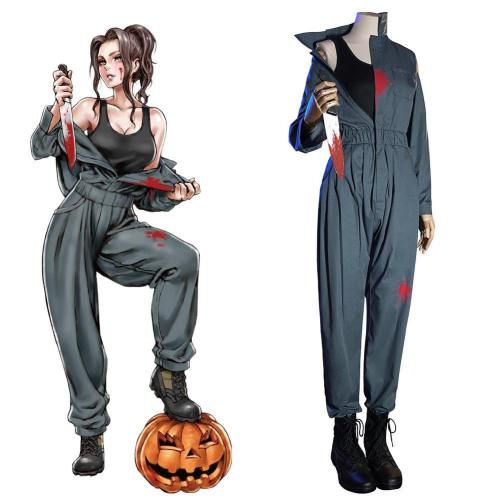 Film Halloween Michael Myers Cosplay Kostüm für Damen Overalls Uniform Halloween Karneval Kostüm