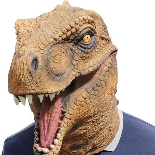 Dinosaurier Kostüm Erwachsene T-Rex Jurassic Welt Cosplay Maske Latex