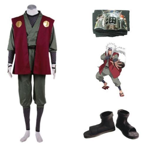 Masashi Kishimoto Naruto Jiraiya Cosplay Kostüm Kinder Erwachsene Set