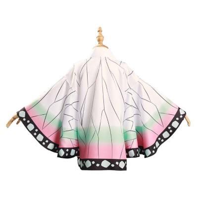 Demon Slayer Kimetsu no Yaiba Kochou Shinobu Umhang Cosplay Kinder Kimono