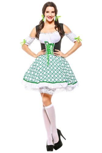 Damen Dirndl Trachtenkleid für Oktoberfest Mottoparty Karneval Kostüm