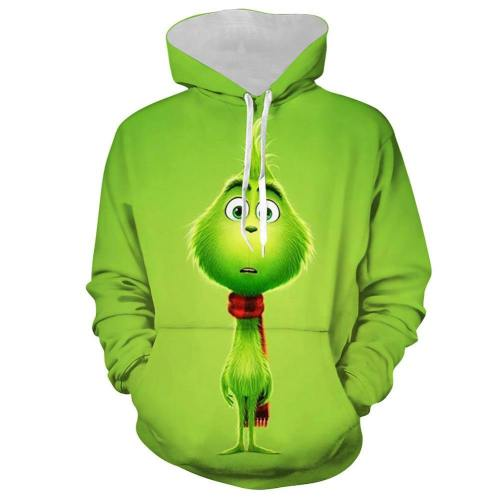 The Grinch Der Grinch Hoodie Sweatshirt Pullover mit Kaputze Pulli Jacke für Erwachsene Jungen