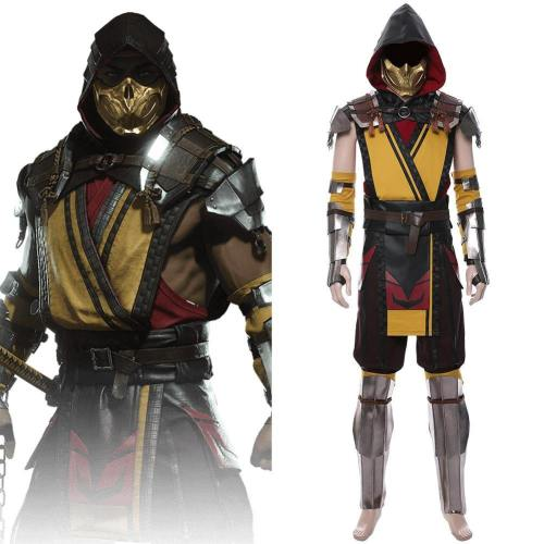 Mortal Kombat 11 Fighting Game Kampfspiel Scorpion Hanzo Hasashi Cosplay Kostüm Herren
