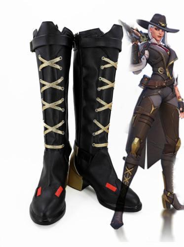 Overwatch Ashe Helden Cosplay Schuhe Stiefel