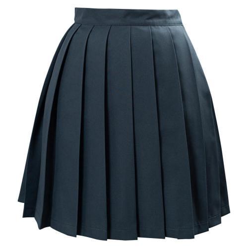 JK Schule Mädchen Japanische Schuluniform Faltenrock einfarbige Mini Röcke