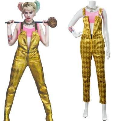 Cosplay Birds of Prey Harley Quinn Kostüm Outfit Jumpsuit