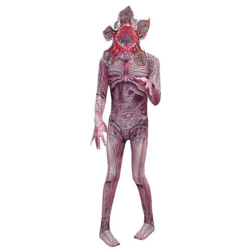 Kinder Demodog Jumpsuit Stranger Things Demodog Demogorgon Jumpsuit Overall mit Maske Cosplay Kostüm für Kinder