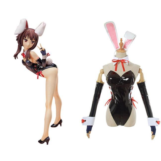 Ein Segen für diese wunderbare Welt! Konosuba God's Blessing On This Wonderful World Megumin Cosplay Kostüm Bunny Girl Jumpsuit Outfits
