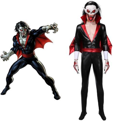 Morbius the Living Vampire Michael Morbius Jumpsuit Cosplay Halloween Karneval Teufel Kostüm Set