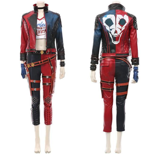 Suicide Squad: Kill the Justice League Harleen Quinzel Cosplay Kostüm Outfits Halloween Karneval Kostüm