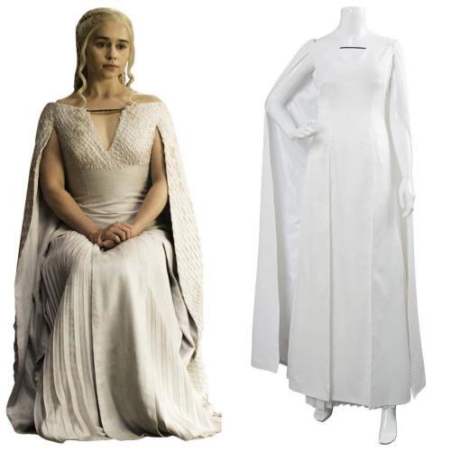 Game of Thrones Staffel 5 S5 Daenerys Targaryen Cosplay Kostüm Kleid für Damen