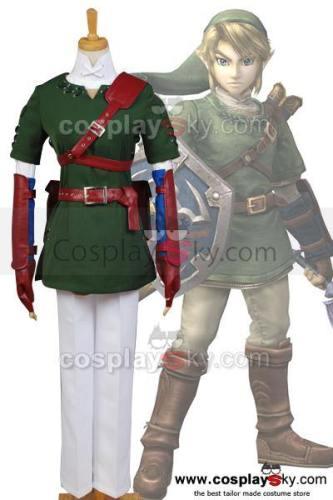 The Legend of Zelda Zelda Link Cosplay Kostüm NEU